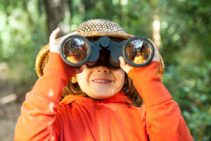 girl with binocular